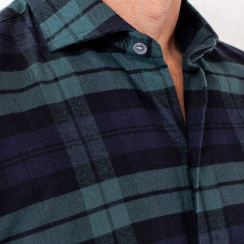 The Navy Gibbs Flannel | Ledbury Men's Flannels & Casual Shirts