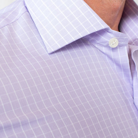 The Lilac McBride Check Dress Shirt | Ledbury Men's Dress Shirts