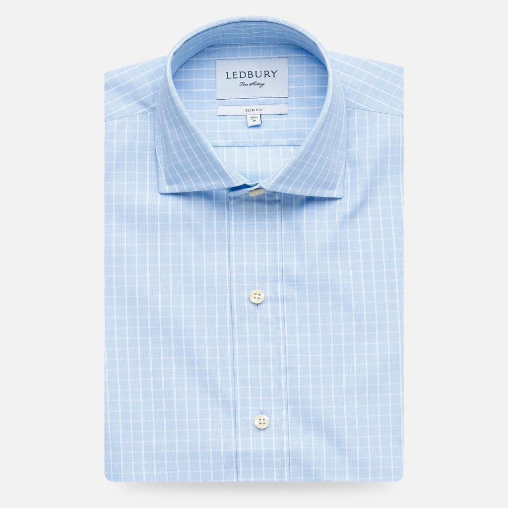 The Blue McBride Check Dress Shirt Dress Shirt- Ledbury