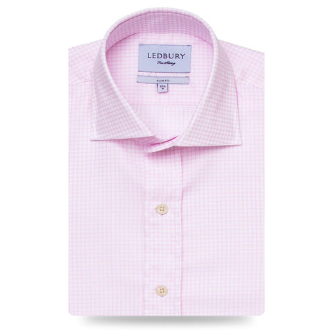 The Pink Kimball Check Dress Shirt | Ledbury Men's Dress Shirts