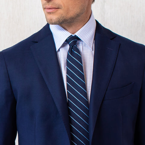 The Light Blue Kimball Check Dress Shirt | Ledbury Men's Dress Shirts