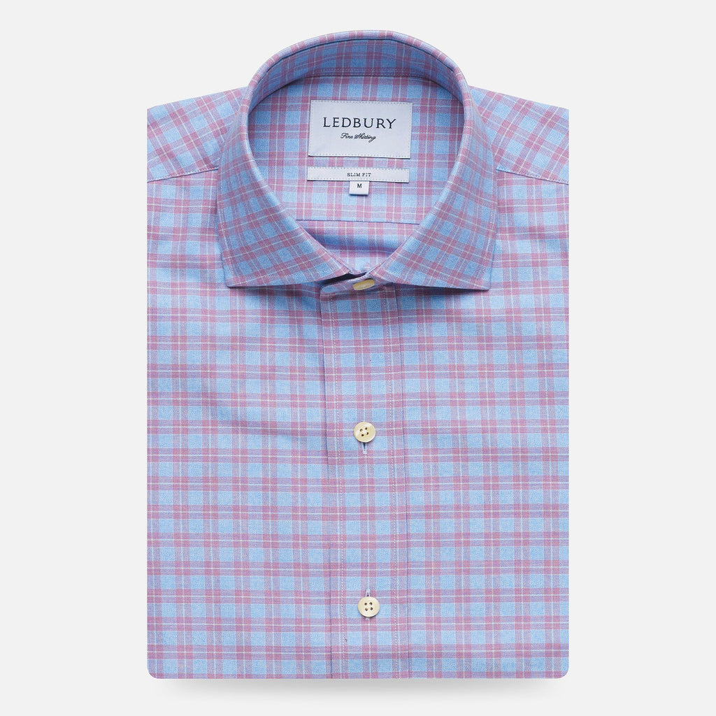 The Lilac Sondra Check Dress Shirt Dress Shirt- Ledbury