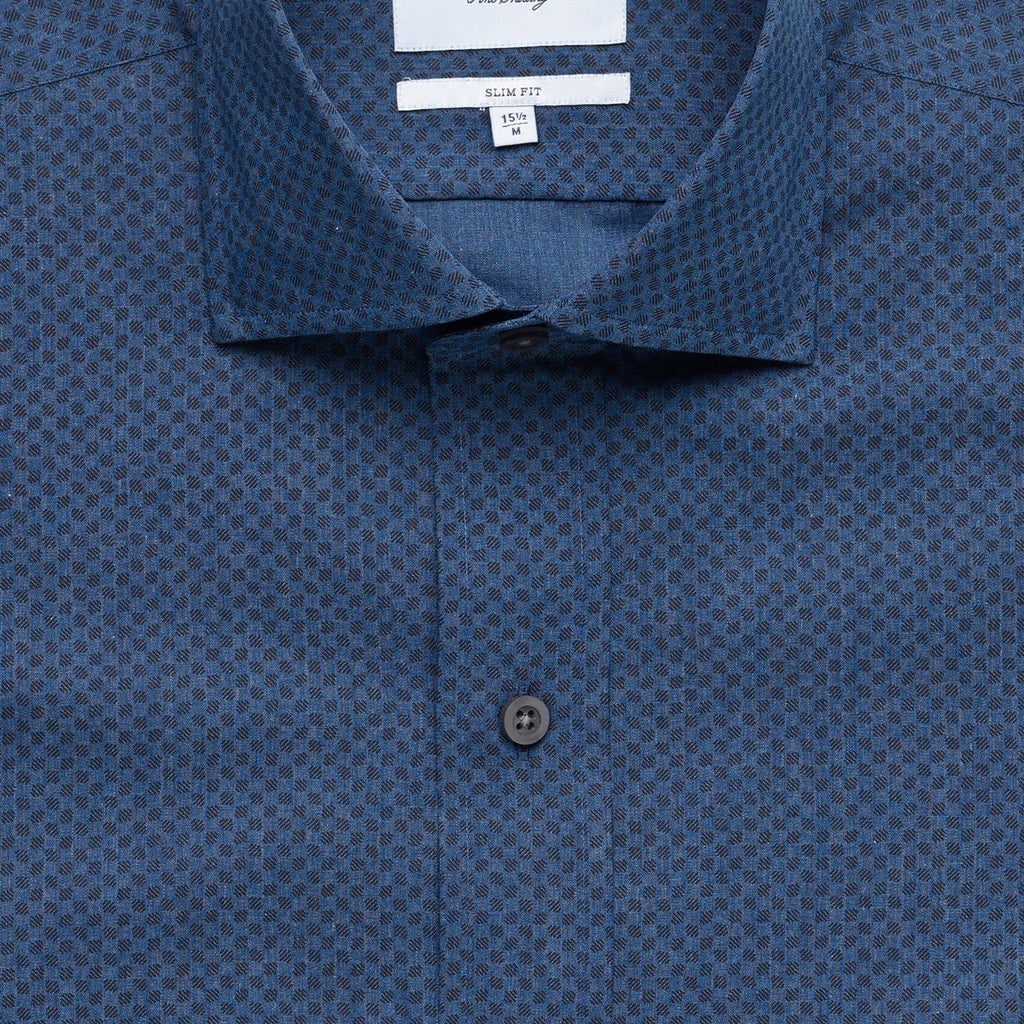 The Winhall Print Dress Shirt Dress Shirt- Ledbury