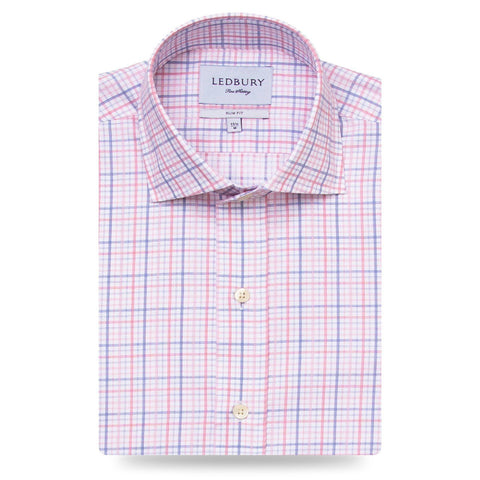The Pink Drazin Check Dress Shirt | Ledbury Men's Dress Shirts