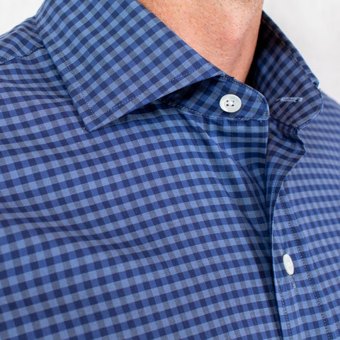 The Dark Blue Fairlee Gingham Dress Shirt