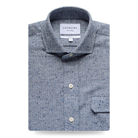 The Dark Blue Dewitt Flannel | Ledbury Men's Flannels & Casual Shirts