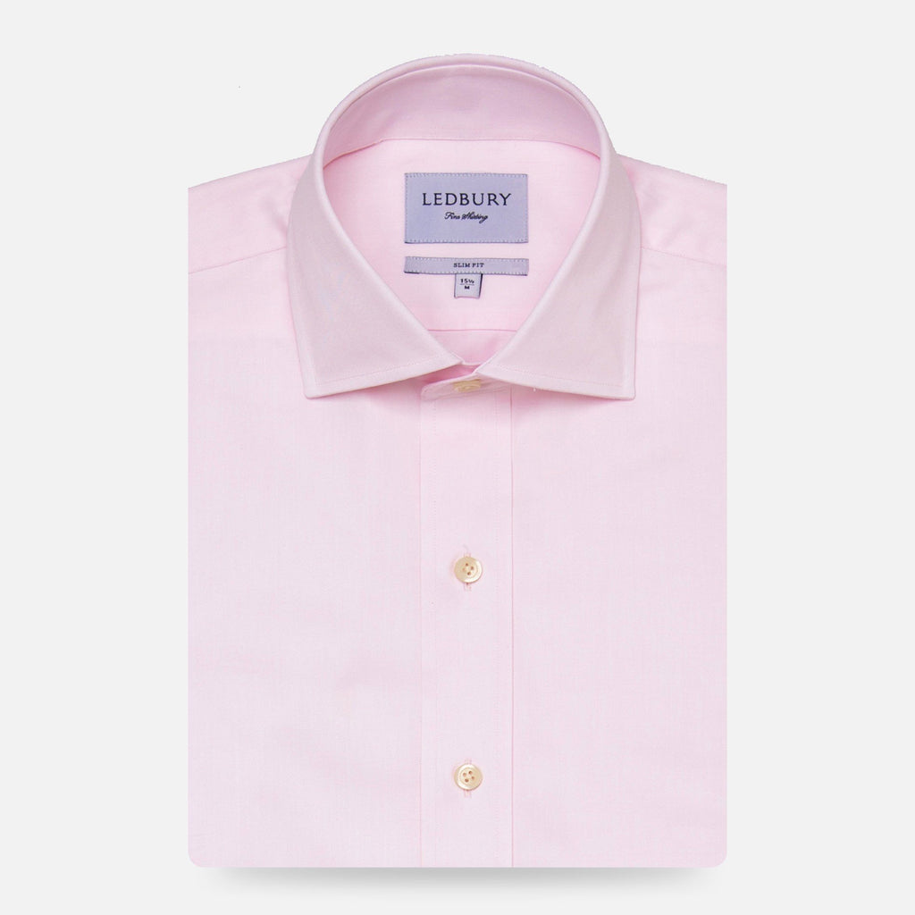 The Pink Fine Twill Spread Dress Shirt Dress Shirt- Ledbury