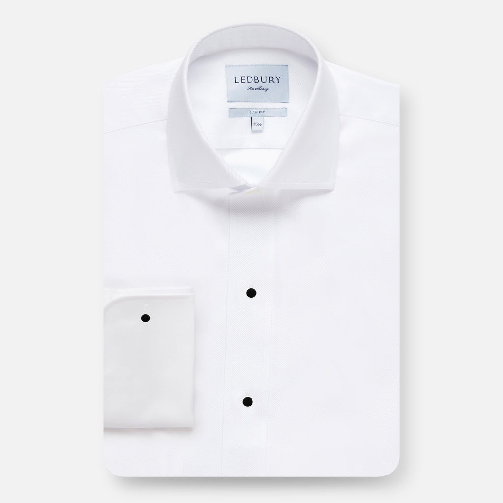 The Tailored Fit Tuxedo Shirt Dress Shirt- Ledbury