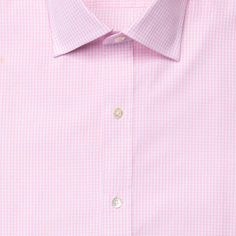 The Pink Gingham Poplin Dress Shirt