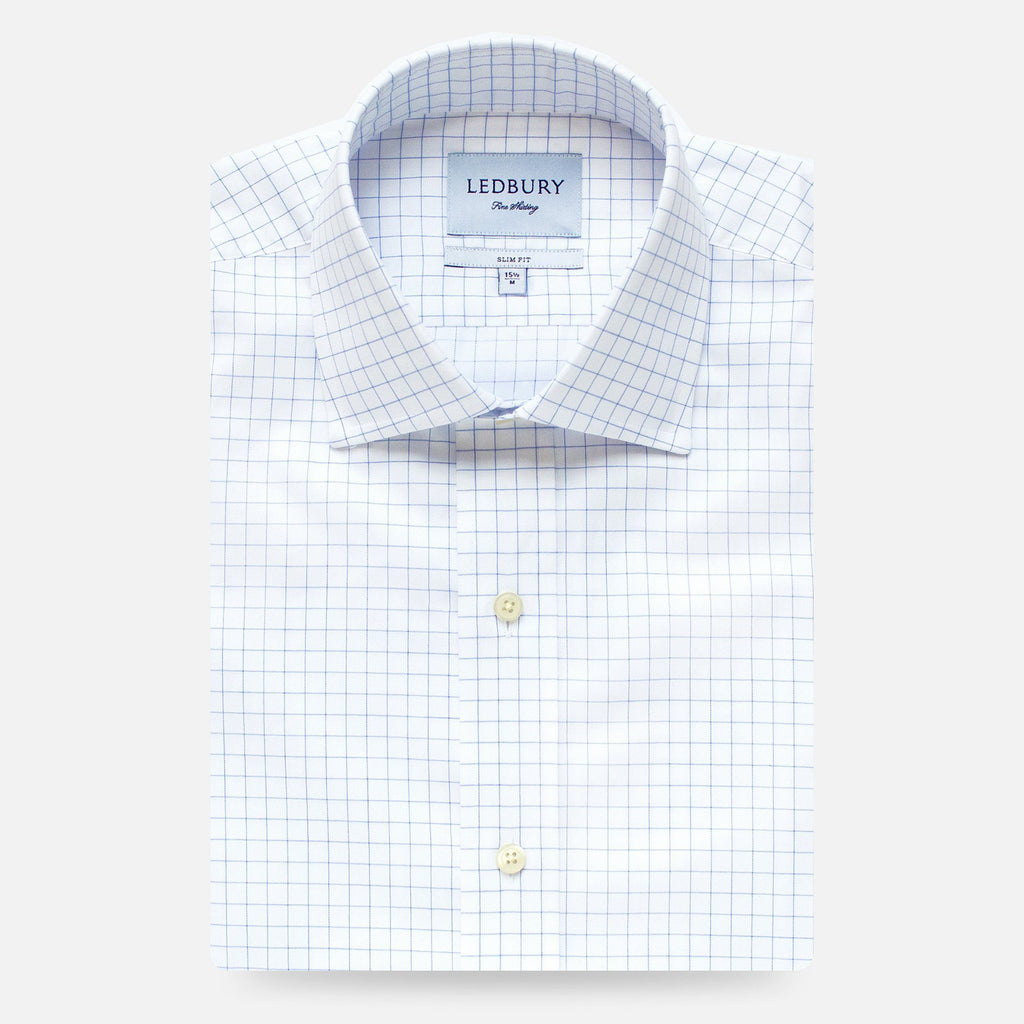 The Blue Carrington Windowpane Dress Shirt
