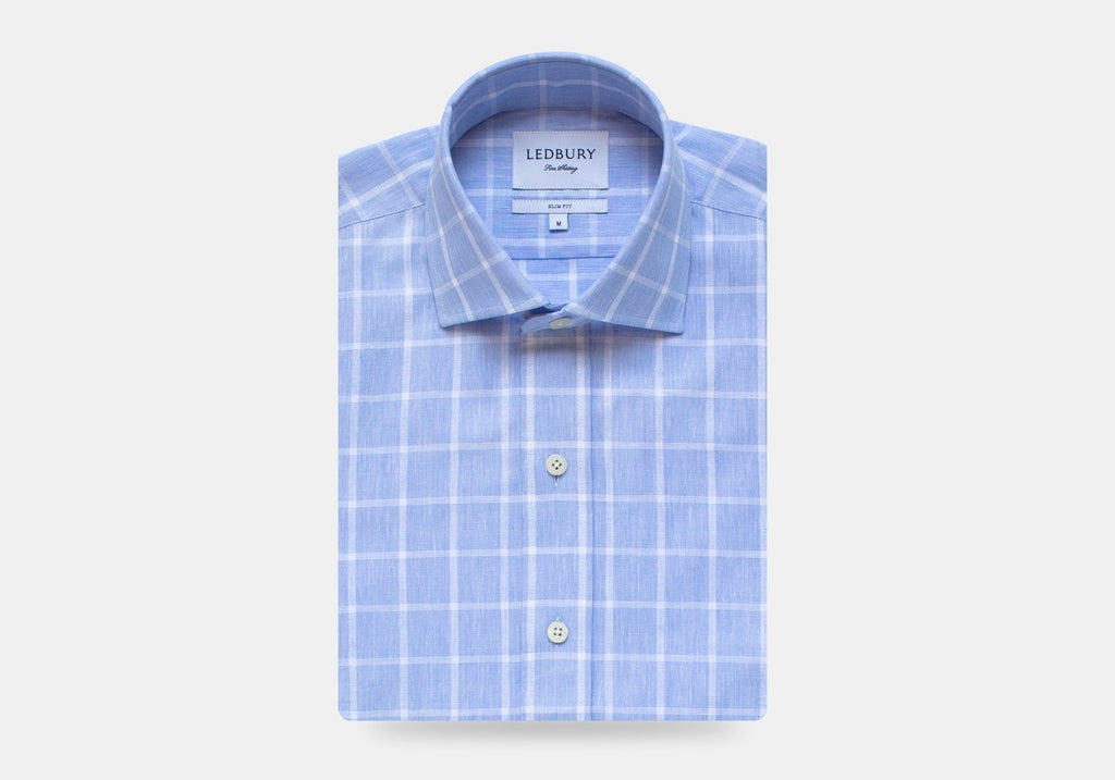 The Blue Mapelton Windowpane Dress Shirt