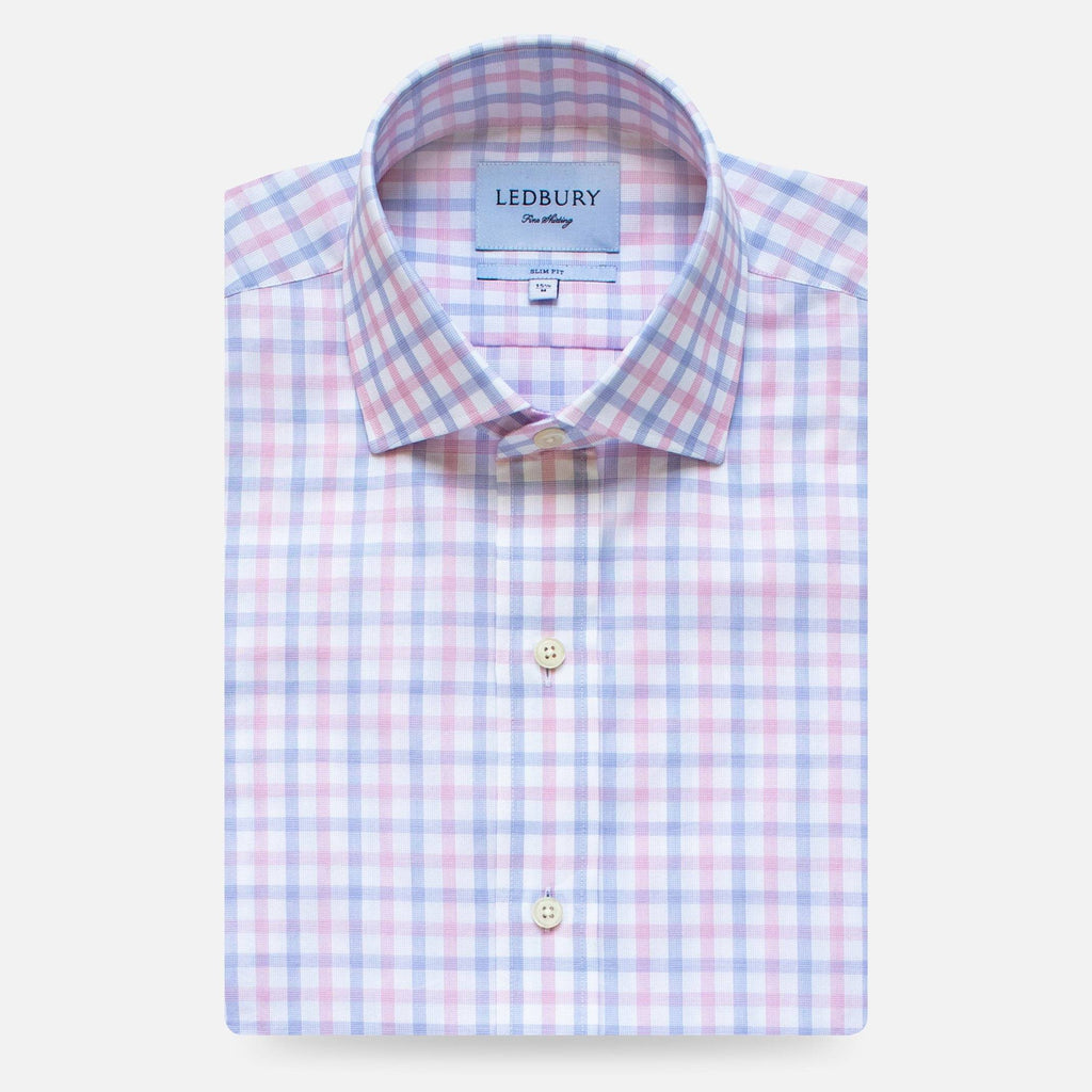 The Pink Wistrom Check Dress Shirt Dress Shirt- Ledbury