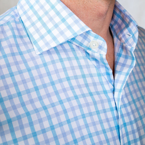The Aqua Wistrom Check Dress Shirt