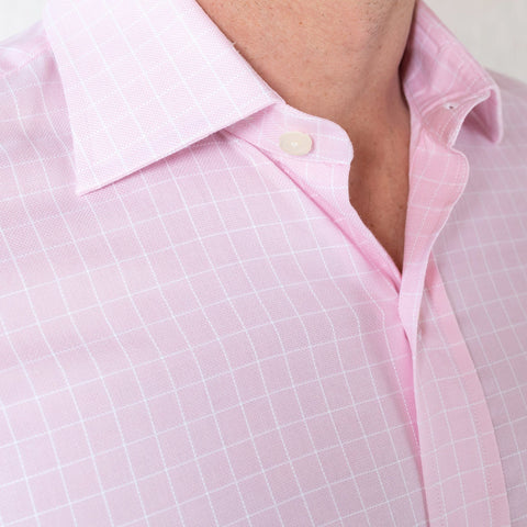 The Pink Haynes Check Dress Shirt