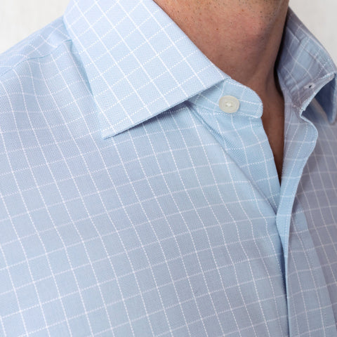 The Light Blue Haynes Check Dress Shirt