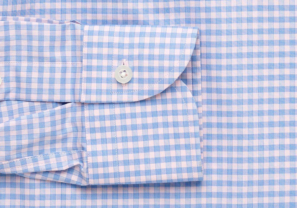 The Pink Prestwick Performance Gingham Dress Shirt Dress Shirt- Ledbury