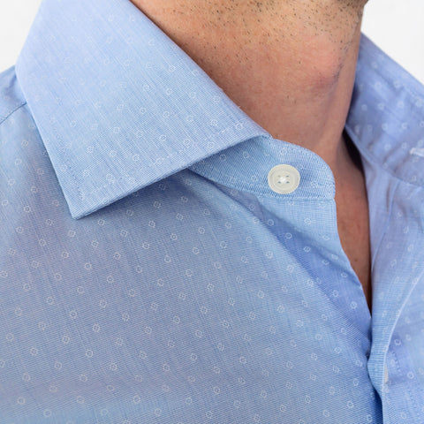The Blue Loren Dot Dress Shirt