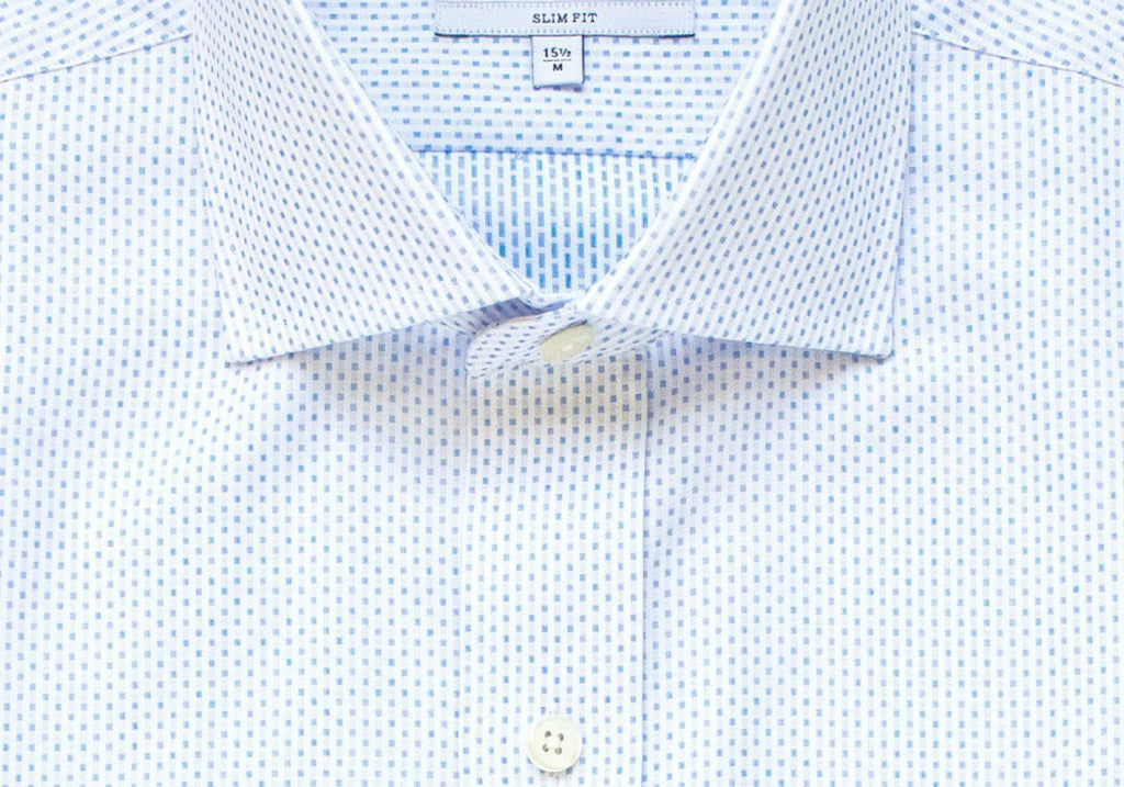 The Blue Chapin Dot Dress Shirt Dress Shirt- Ledbury