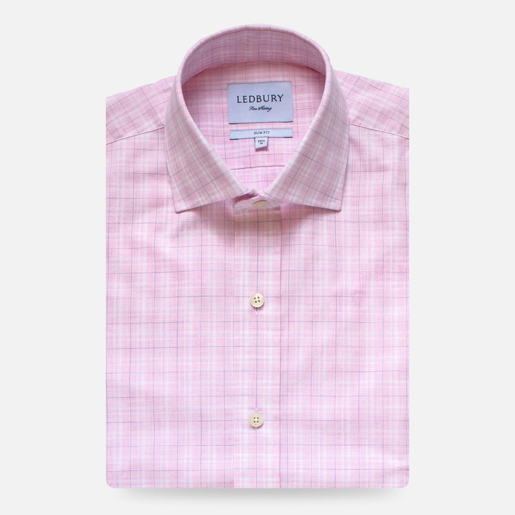 The Berry Quinton Check Dress Shirt Dress Shirt- Ledbury