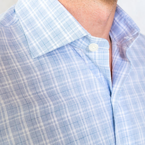 The Blue Quinton Check Dress Shirt
