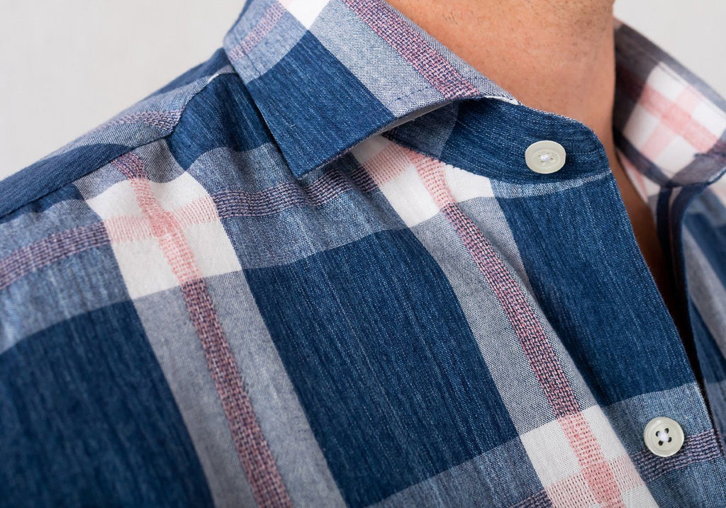 The Cadet Blue Rawls Plaid Casual Shirt Casual Shirt- Ledbury