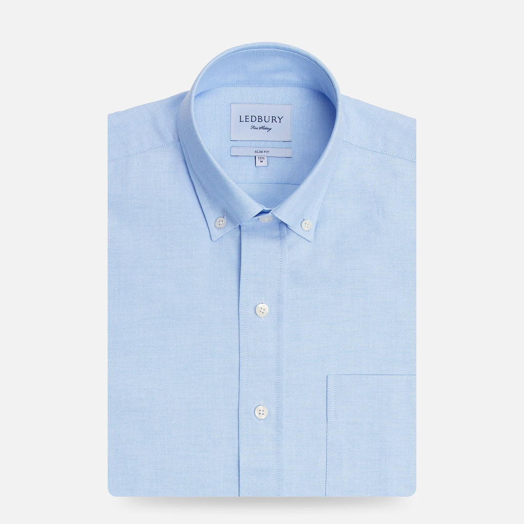The Light Blue Mayfield Oxford Casual Shirt Dress Shirt- Ledbury