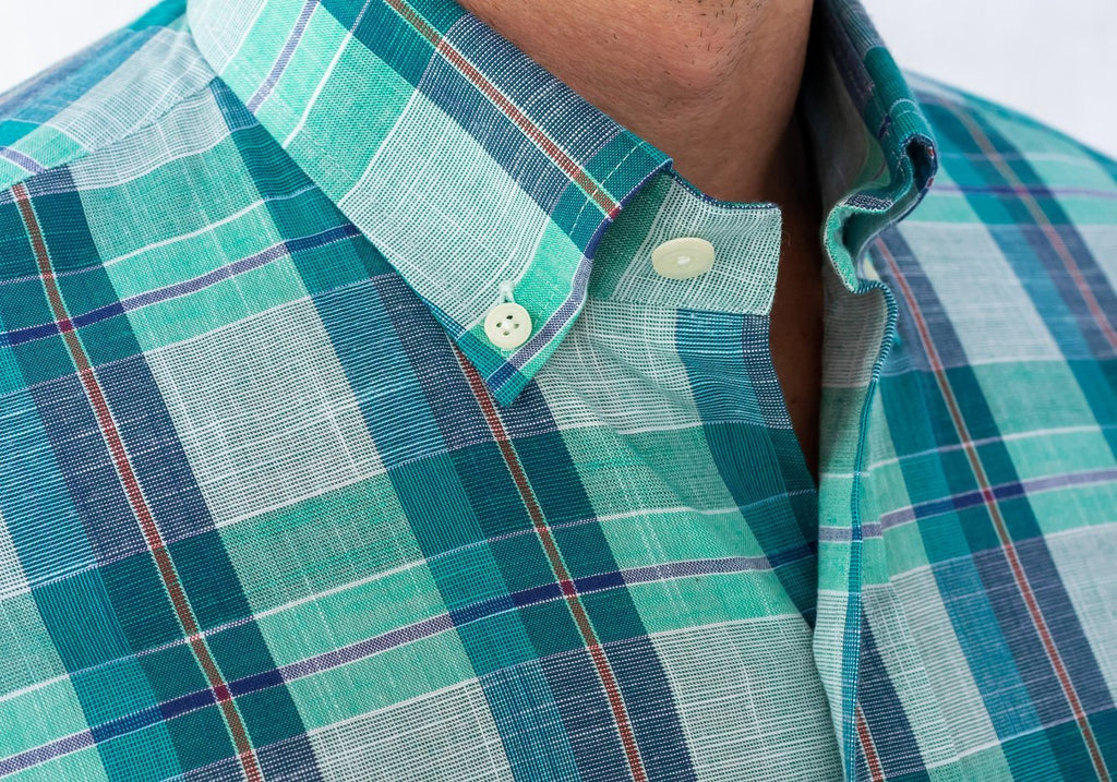 The Leaf Briar Plaid Casual Shirt Casual Shirt- Ledbury