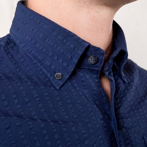 The Navy Stanston Seersucker Casual Shirt