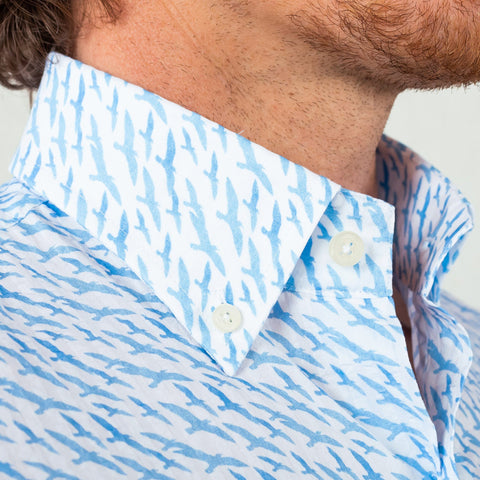The Blue Lakepointe Printed Seersucker Casual Shirt