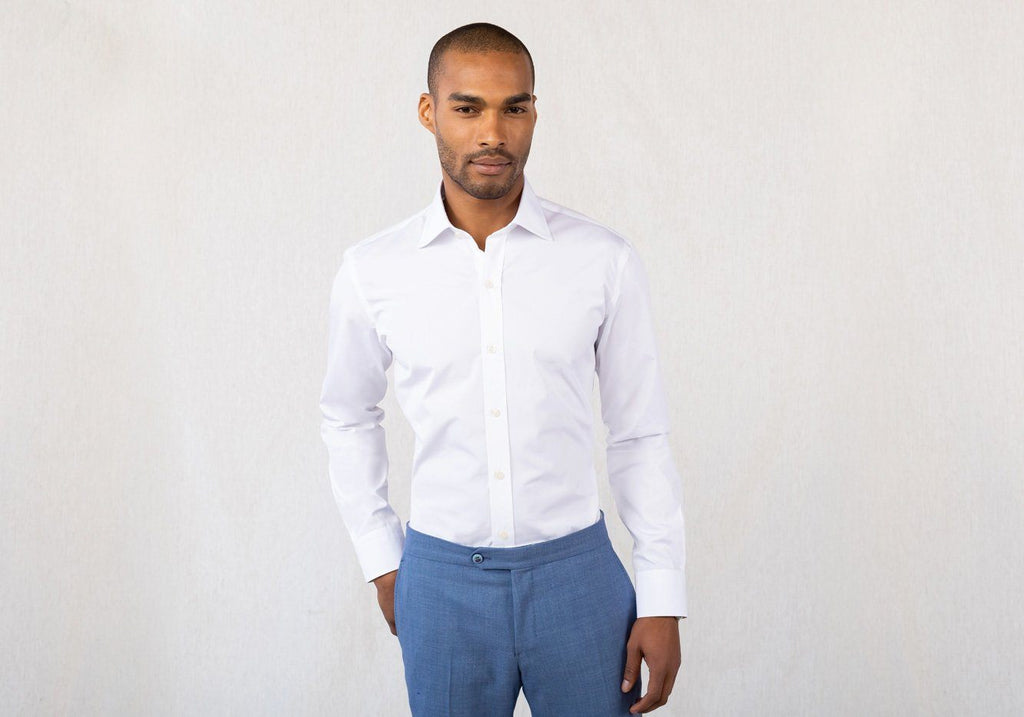 The White Bancroft Poplin Dress Shirt