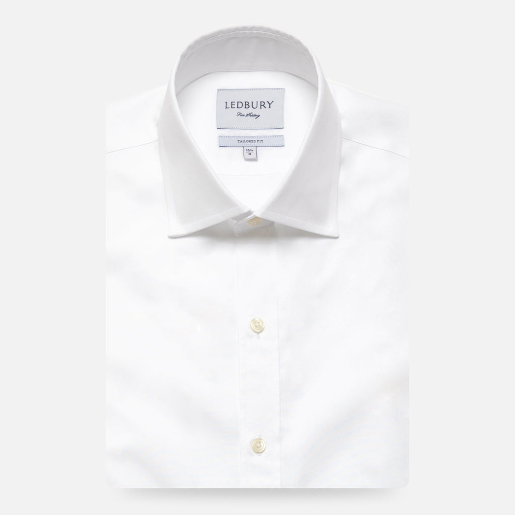 The White Bancroft Poplin Dress Shirt Dress Shirt- Ledbury