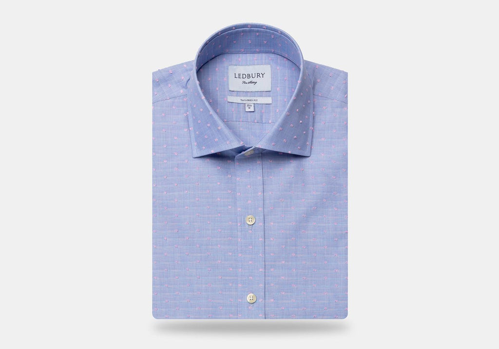 The Clairwood Fil Coupe Dress Shirt Dress Shirt- Ledbury