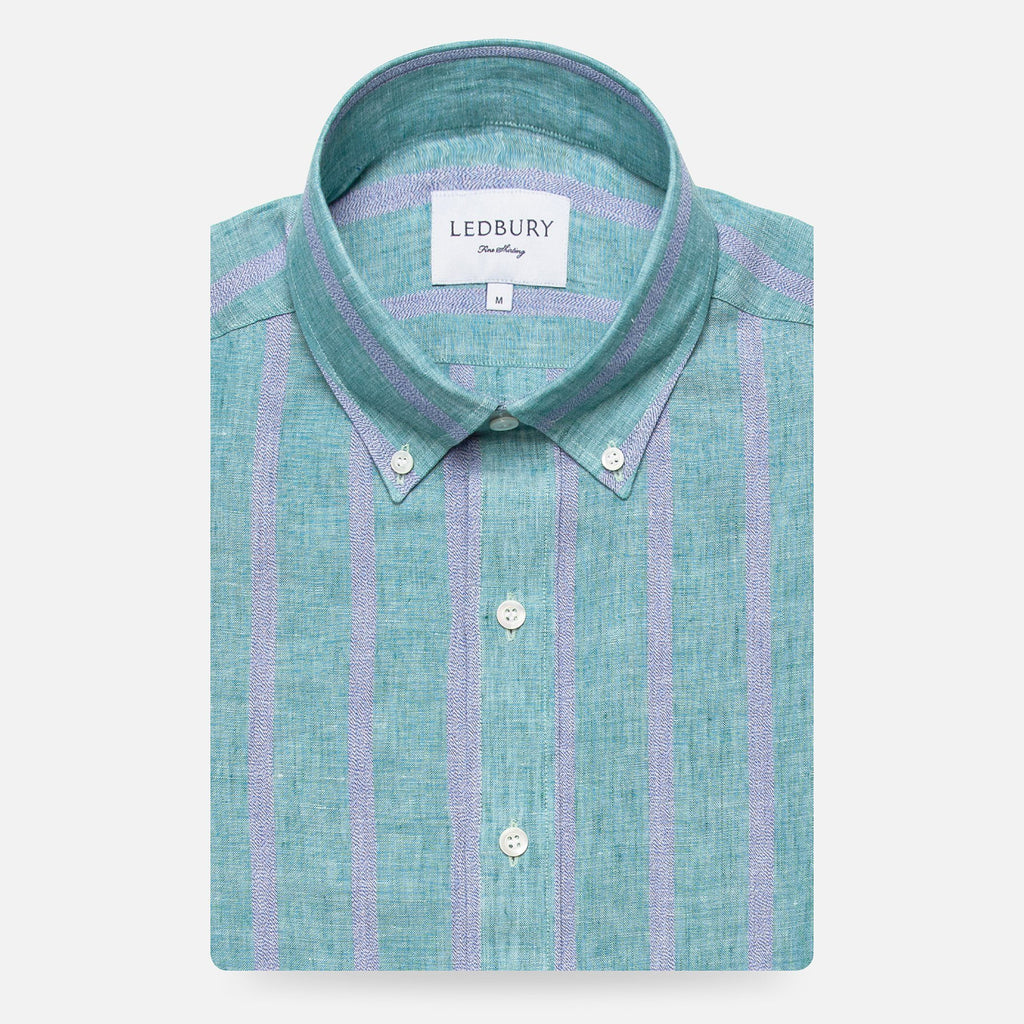 The Capehart Cotton Linen Stripe Casual Shirt