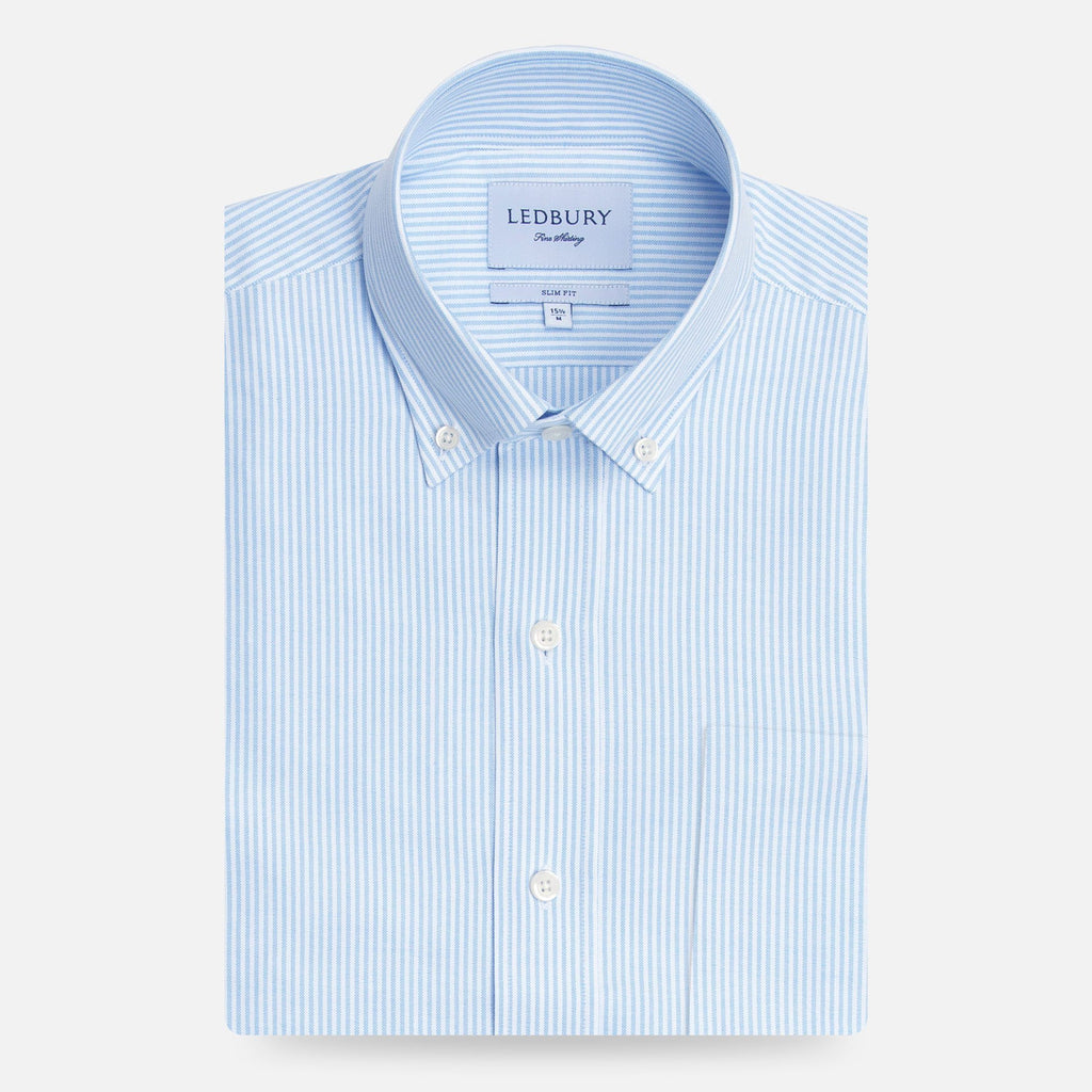 The Light Blue Mayfield Stripe Oxford Casual Shirt Casual Shirt- Ledbury