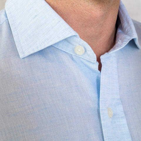 The Light Blue Kingston Cotton Linen Casual Shirt