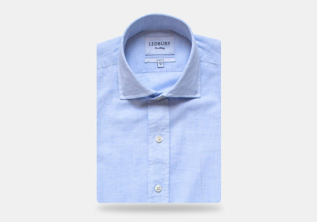 The Light Blue Kingston Cotton Linen Casual Shirt Casual Shirt- Ledbury