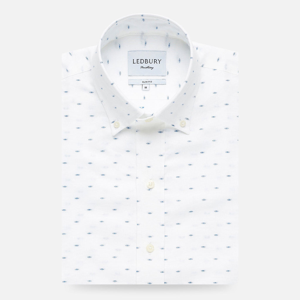 The Blue Allenhurst Dot Casual Shirt Casual Shirt- Ledbury