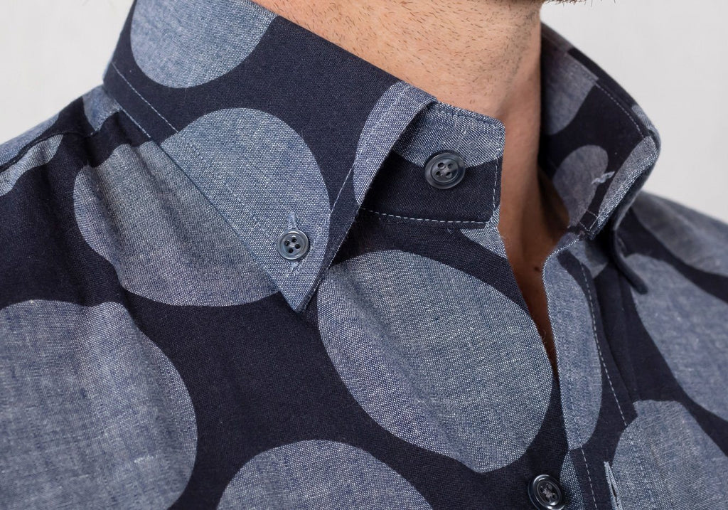 The Navy Foundry Print Casual Shirt