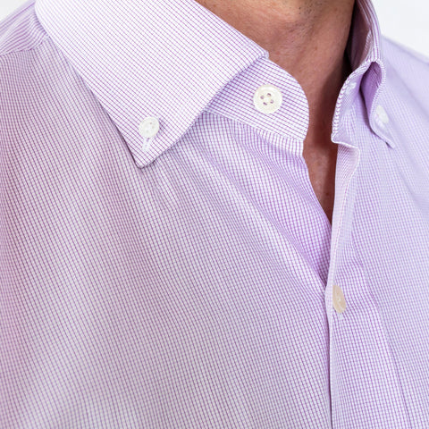The Lavender Fairlake Check Dress Shirt