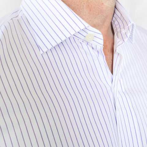 The Lavender Duval Stripe Dress Shirt
