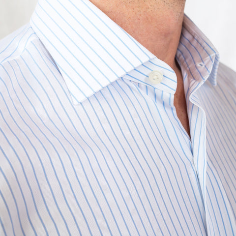 The Light Blue Duval Stripe Dress Shirt