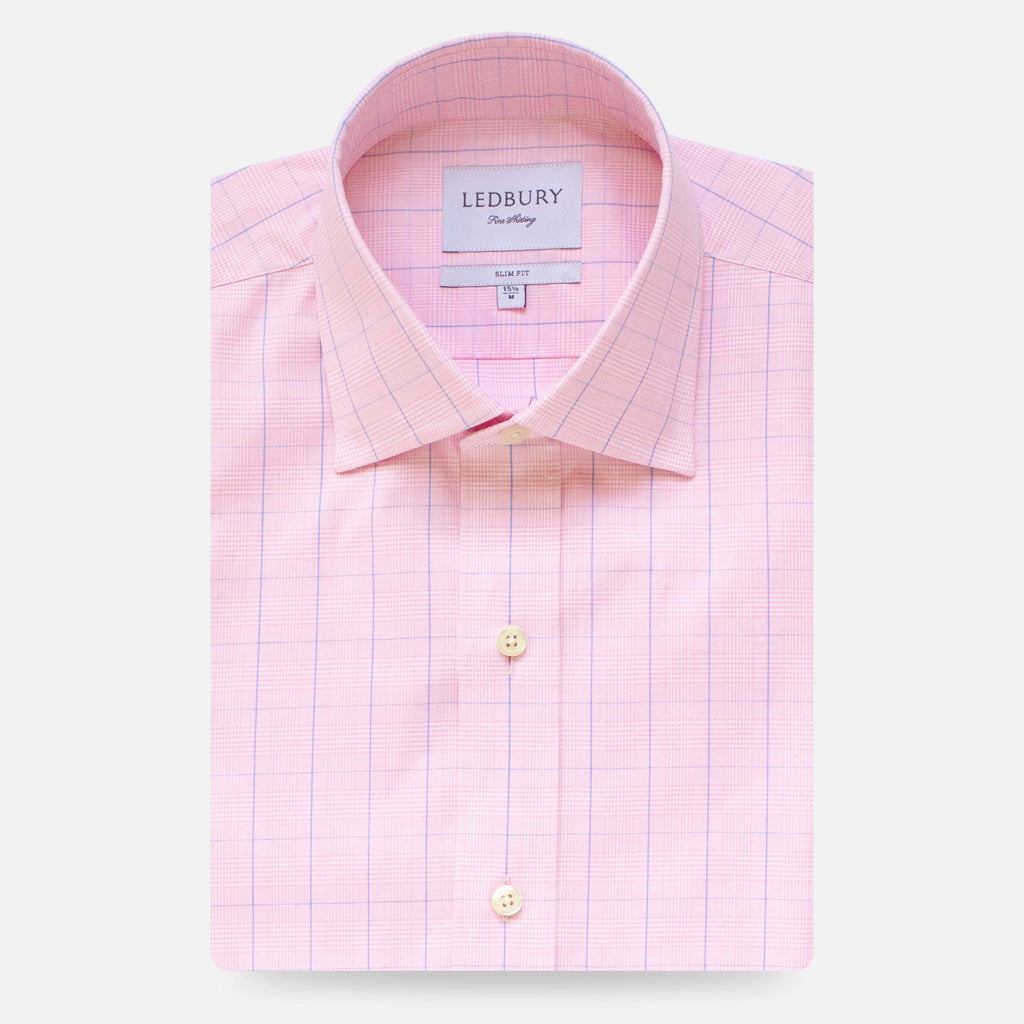 The Pink Tauton Check Dress Shirt Dress Shirt- Ledbury