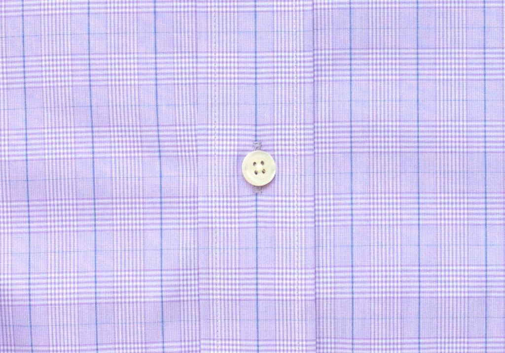 The Lilac Tauton Check Dress Shirt Dress Shirt- Ledbury
