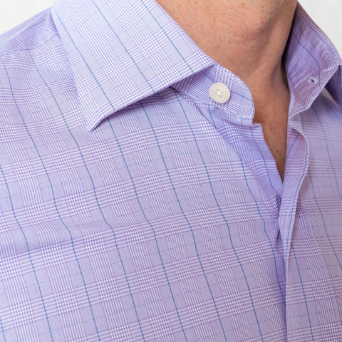 The Lilac Tauton Check Dress Shirt