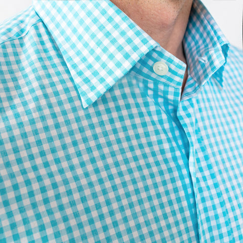 The Aqua McAdam Gingham Casual Shirt