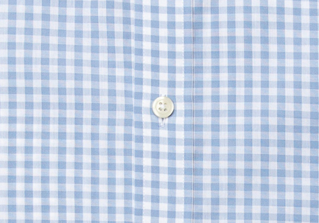 The Blue McAdam Gingham Dress Shirt Dress Shirt- Ledbury