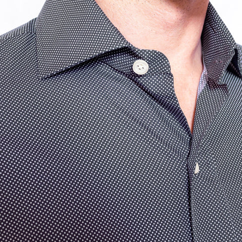 The Navy Langdon Dot Print Dress Shirt
