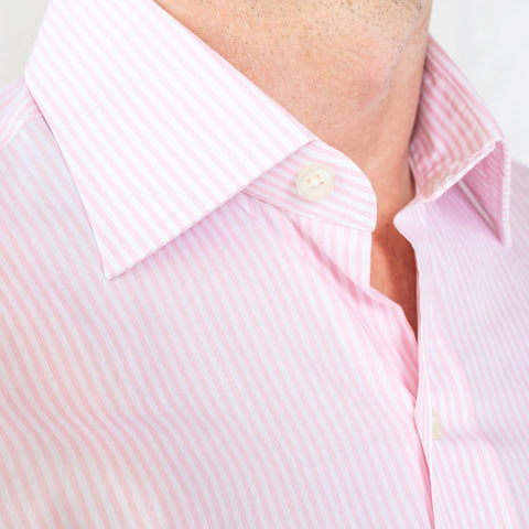The Pink Edsel Stripe Poplin Dress Shirt