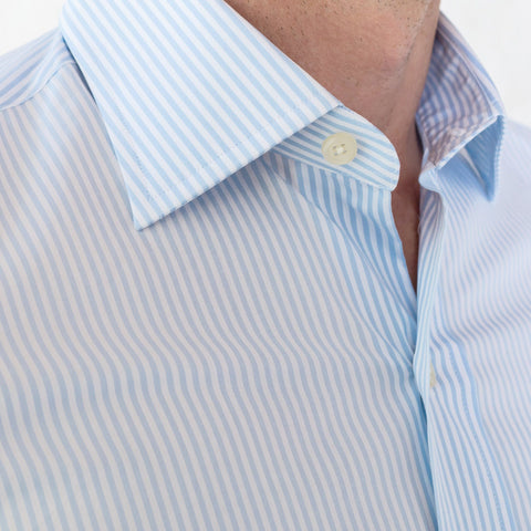 The Light Blue Edsel Stripe Poplin Dress Shirt