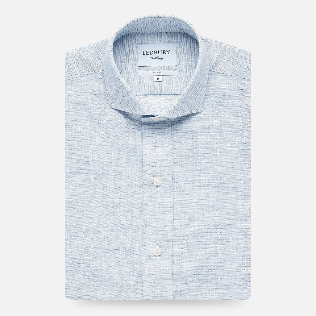 The Blue Chaversham Cotton Linen Casual Shirt Casual Shirt- Ledbury